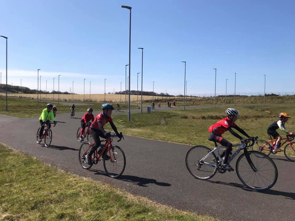 ERC youths at Fife Cycle Park